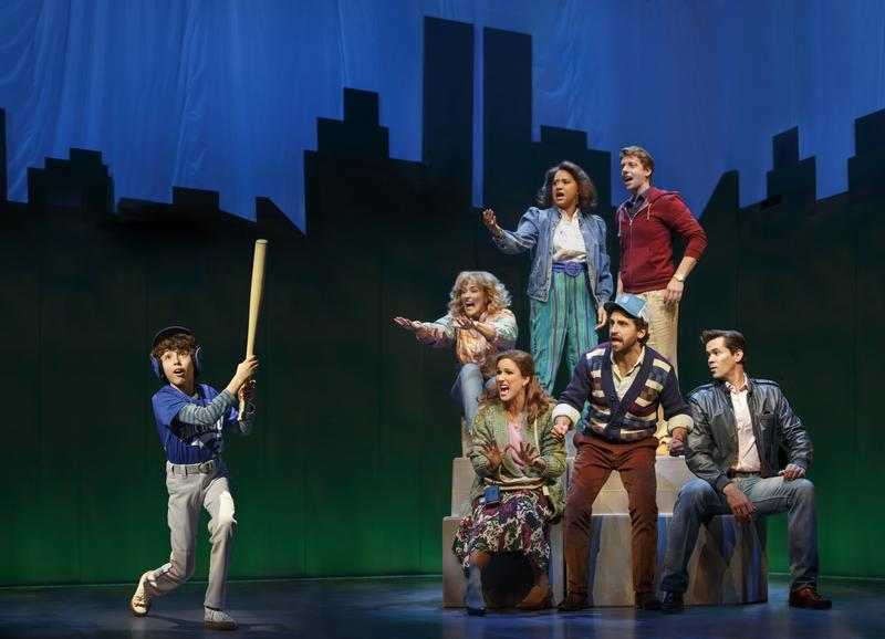"The cast of ""Falsettos"" on Broadway"