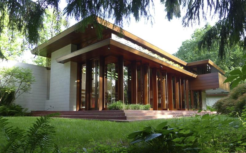 The Bachman Wilson House was built by American architect Frank Lloyd Wright in Somerset County in 1954