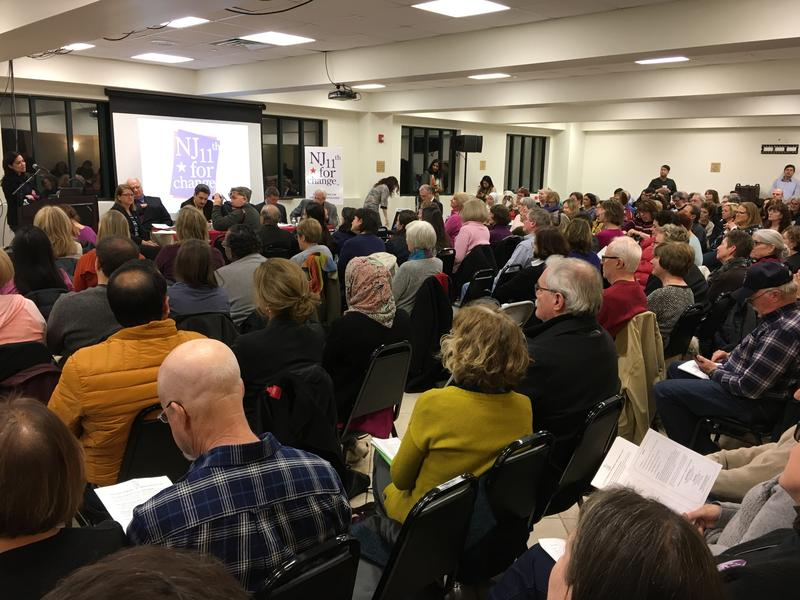 About 350 people gathered at a Boonton mosque Tuesday for a town hall hosted by NJ 11th for Change