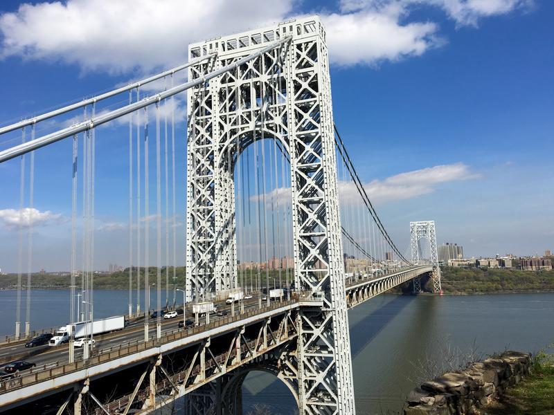 George Washington Bridge from Fort Lee. (Sarah Gonzalez/WNYC)