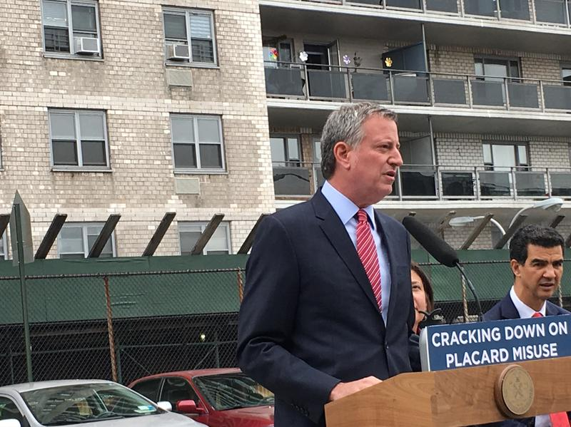 De Blasio vows to punish parking placard abusers