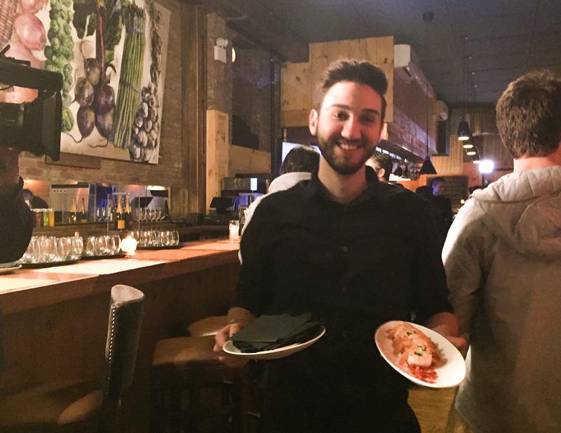 Server at Colors Restaurant. Janet Babin/WNYC