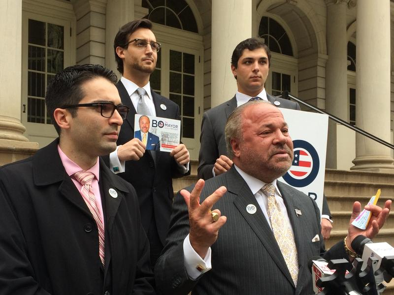 City Councilmember Eric Ulrich endorsing mayoral candidate Bo Dietl