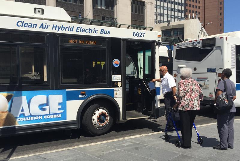 Bus riders in Brooklyn