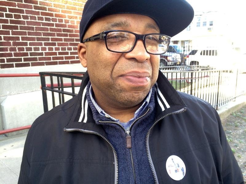 Carlos Jones, 51, voted for the first time on Election Day.