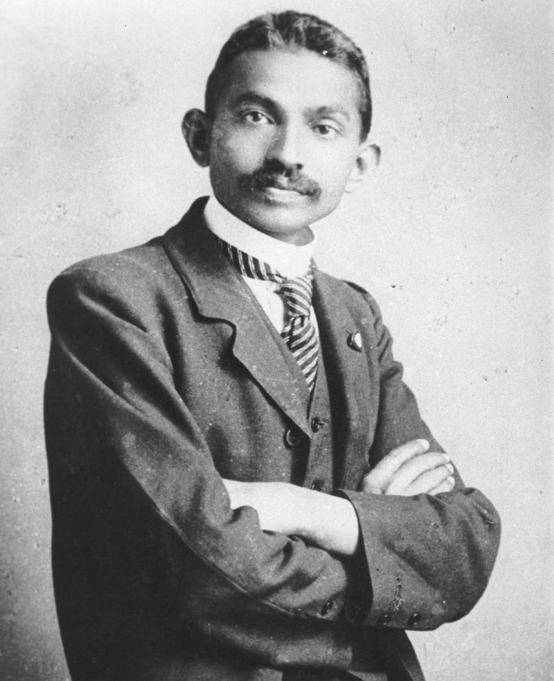 Gandhi as a lawyer in South-Africa, 1906.