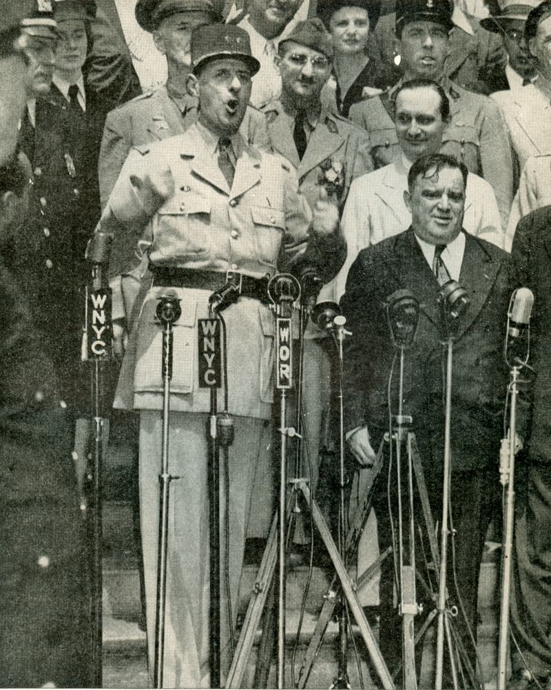 General de Gaulle and Mayor La Guardia, August 27, 1945.