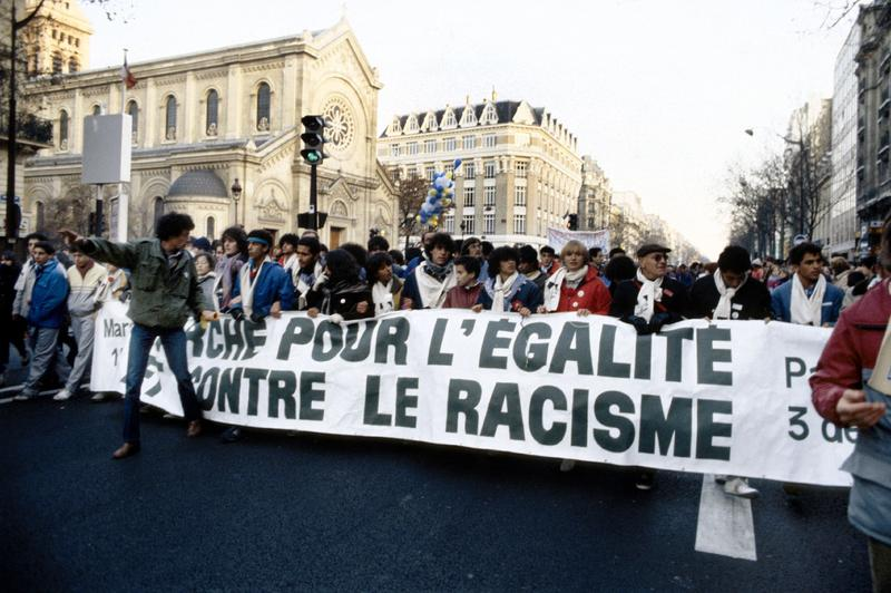 March against racism in Paris on December 8, 1983.