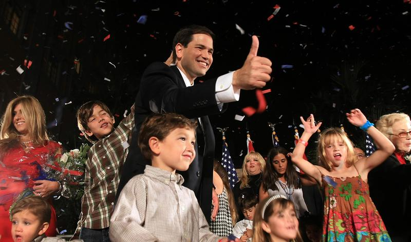 Marco Rubio celebrates his Senate win in 2010