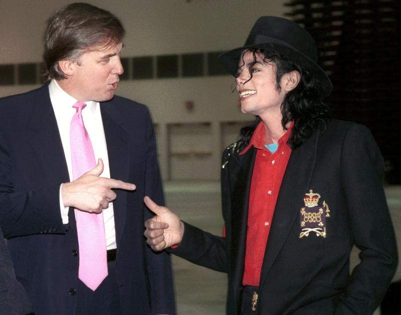 Donald Trump and Michael Jackson tour the Trump Taj Mahal Hotel & Casino after it opened in 1990. Within a year, the casino filed for bankruptcy.