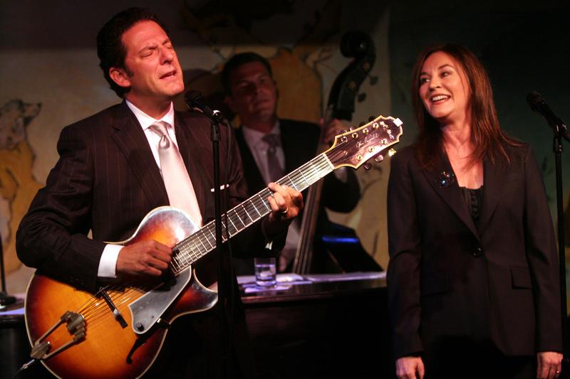 John Pizzarelli and Jessica Molaskey performing at the Cafe Carlyle on Tuesday night, September 9, 2008