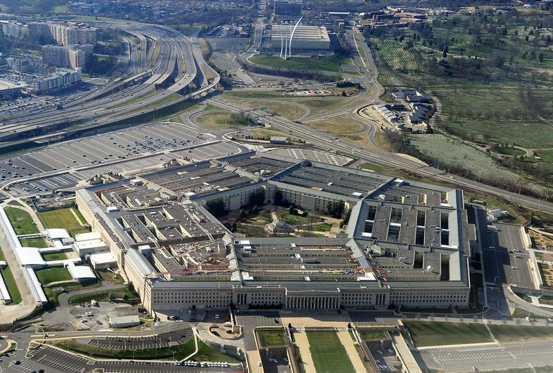 An aerial shot of The Pentagon in Arlington County, Virginia.