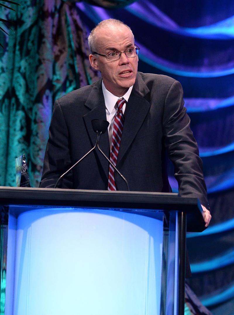 Honoree Bill McKibben accepts the EMA Lifetime Achievement Award onstage during the 23rd Annual Environmental Media Awards