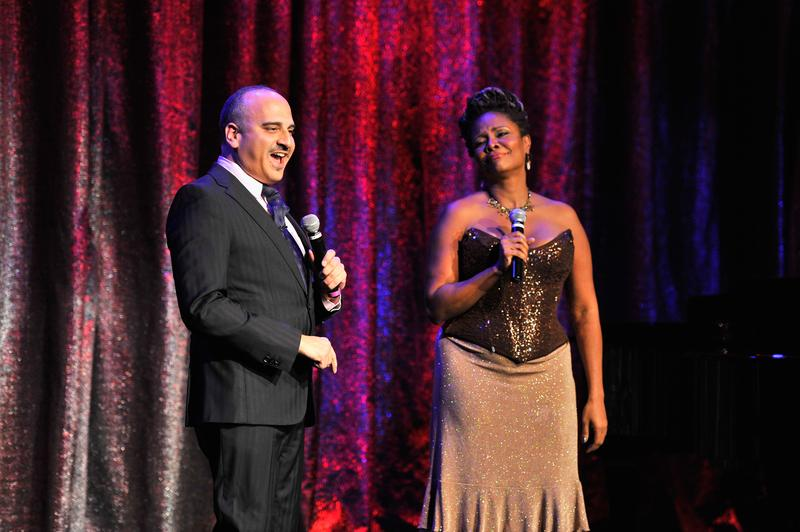 Julian Fleisher and actress Tonya Pinkins perform onstage at the Great Writers Thank Their Lucky Stars annual gala