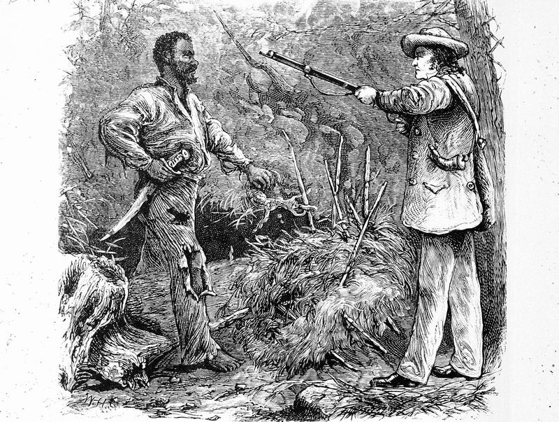 The discovery of Nat Turner (1800 - 1831), the American slave leader who led an uprising of slaves in August 1831.