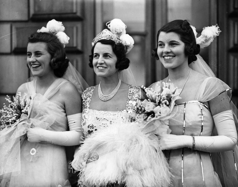 Rosemary Kennedy (far right) is pictured with friends and family in 1938. Three years later in 1941, she underwent a surgery that left her severely disabled.