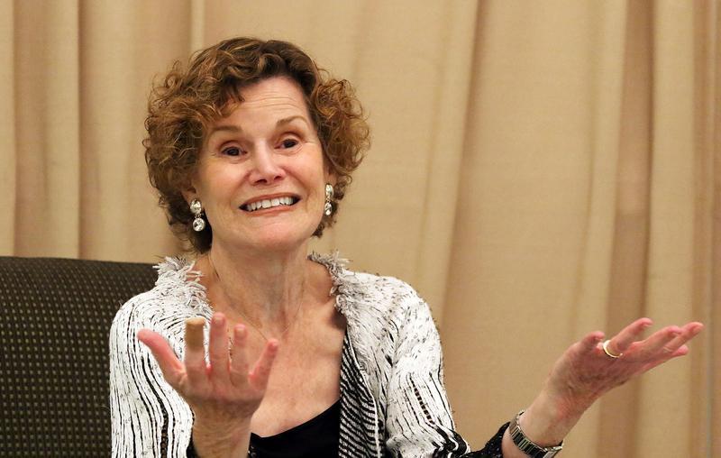 Judy Blume In Conversation With WLRN's Alicia Zuckerman at Temple Judea on June 15, 2015 in Miami, Florida.