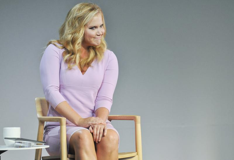 Amy Schumer attends Meet The Filmmaker at Apple Store Soho to discuss her new film 'Trainwreck.'
