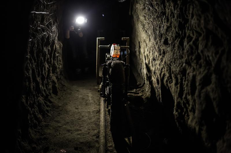 Inside view of the tunnel inside the house where used by Joaquin 'El Chapo' Guzman to escape from the Maximum Security Prison of El Altiplano last Sunday, in Almoloya de Juarez, Mexico in July, 2015