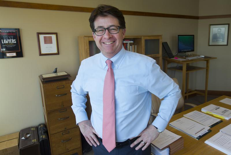'Making a Murderer' defense attorney Dean Strang at his firm's office in Madison, Wis.