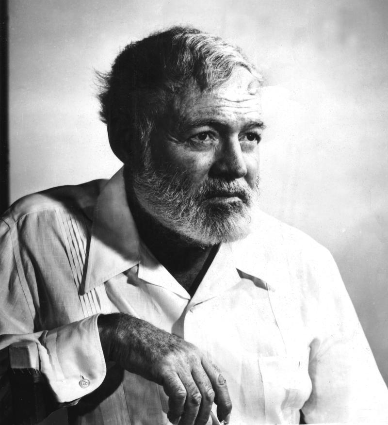 Portrait of Ernest Hemingway.