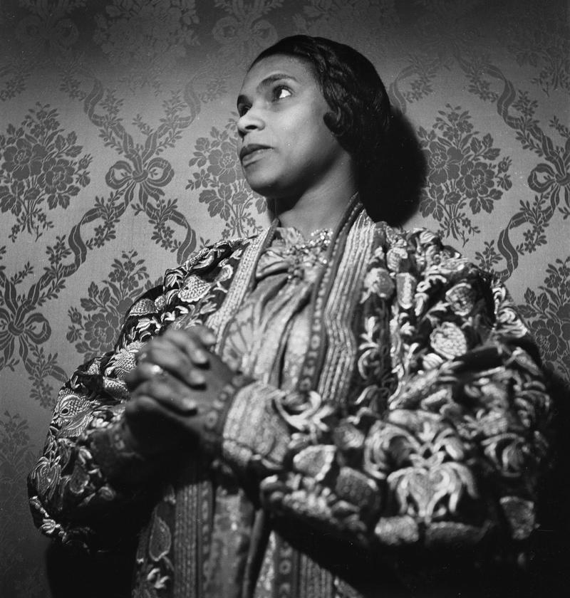 Marian Anderson (1902-1993), American opera singer. France, circa 1955.