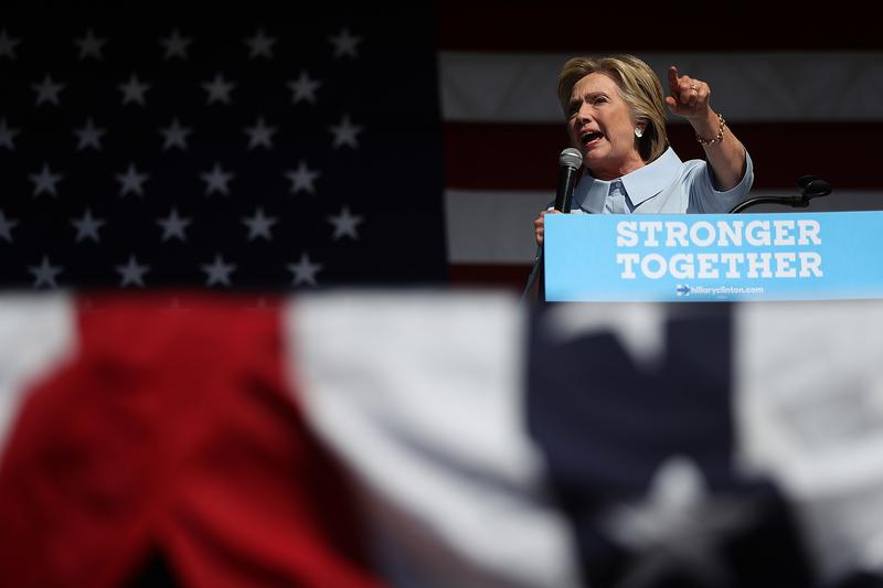 Hillary Clinton Campaigns On Labor Day In Ohio And Iowa.