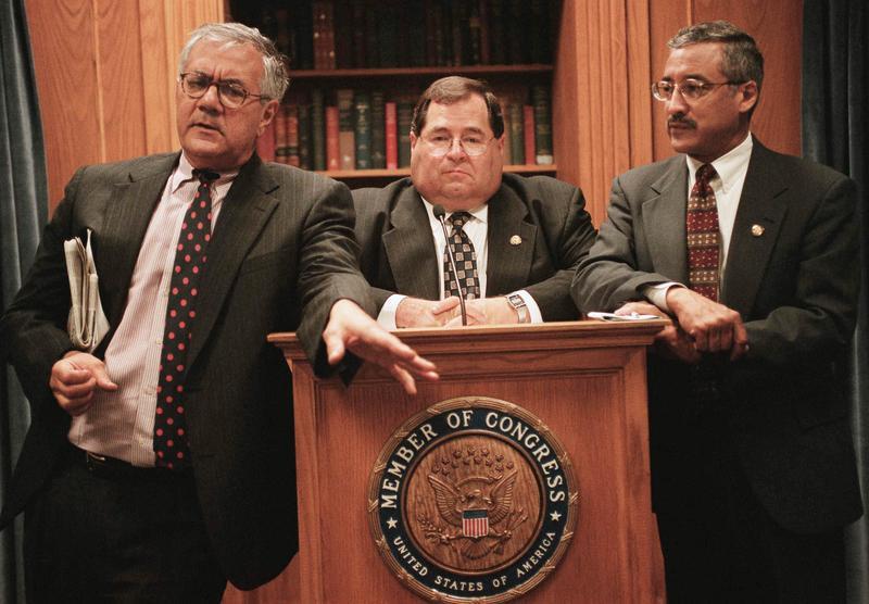 Barney Frank, D-Mass., Jerrold Nadler, D-N.Y., and Robert C. Scott, D-Va., July 11, 2001.
