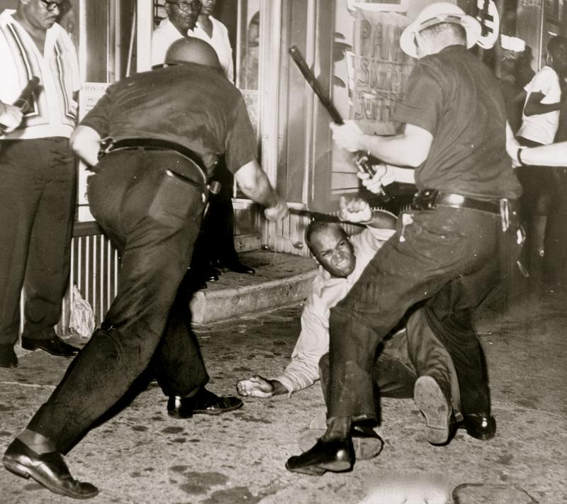 July, 1964: Police shooting in Harlem sparks a riot.