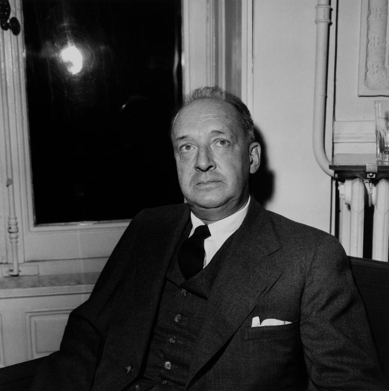 The Russian Writer Vladimir Nabokov In Paris In 1959.