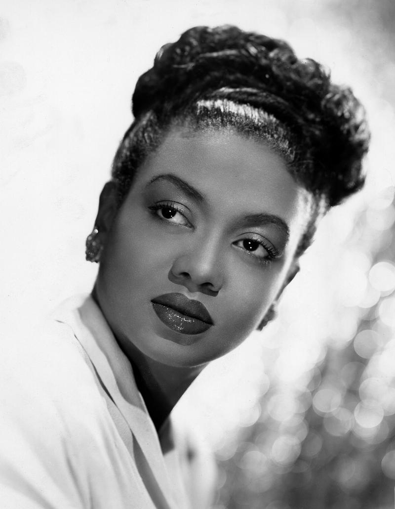1948 publicity still (by James Kriegsmann) of American pianist, jazz singer and actress Hazel Scott (1920 - 1981)
