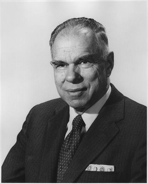 Physicist Glenn T. Seaborg, atomic pioneer and Commissioner of the Atomic Energy Commission., ca. 1964