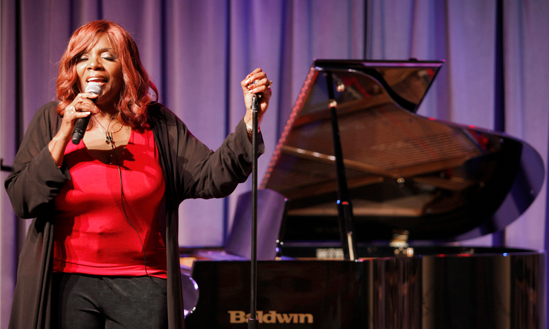 """Gloria Gaynor celebrating the 30th anniversary of her hit """"I Will Survive"""" at the Grammy Museum in Los Angeles"""