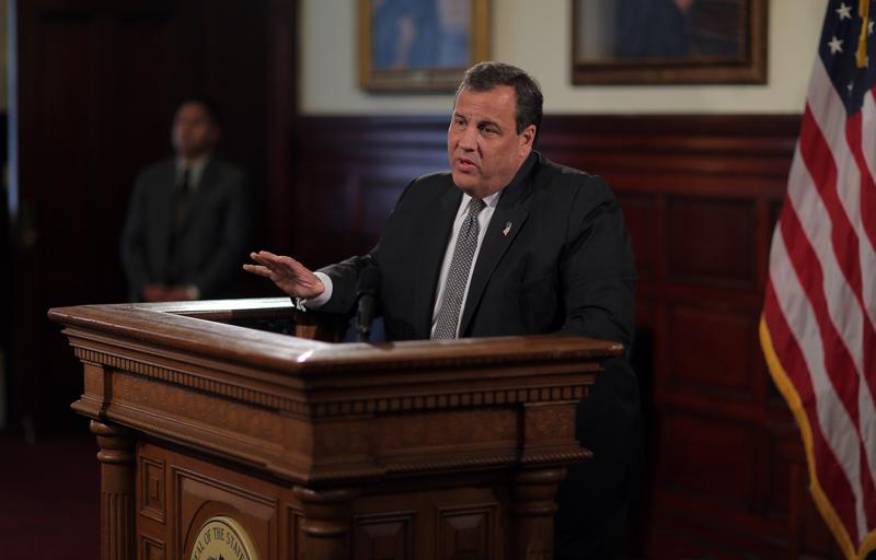 Governor Chris Christie holds press conference on the Transportation Trust Fund on Wednesday, June 29, 2016