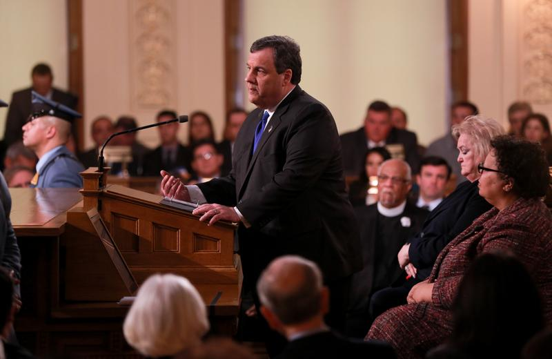 New Jersey Governor Chris Christie delivers his FY 2017 budget address, 2-16-16.