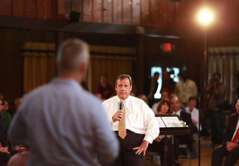 New Jersey Governor Chris Christie at a town hall event in Wayne, NJ. Oct. 4, 2016.