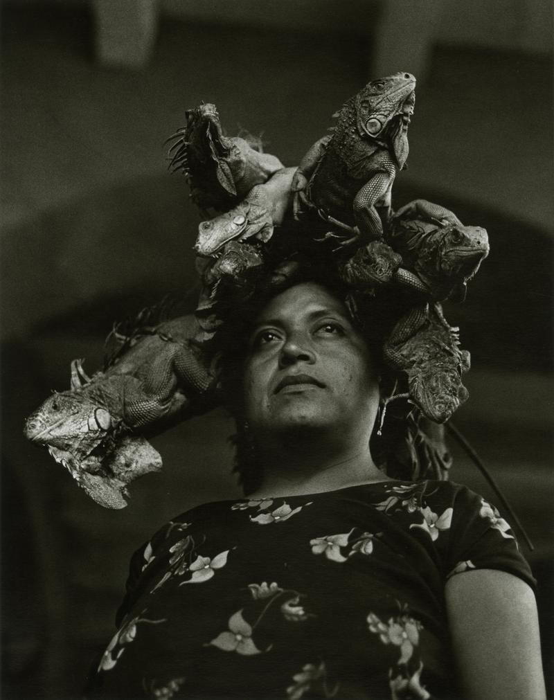 Graciela Iturbide, Our Lady of the Iguanas (Nuestra Señora de la Iguanas), Juchitan, Oaxaca, 1979.