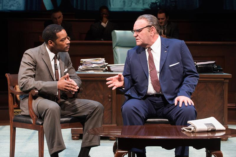 Dr. Martin Luther King, Jr. (Kenajuan Bentley) and President Johnson (Jack Willis) confer about the Voting Rights Act in 'The Great Society.'