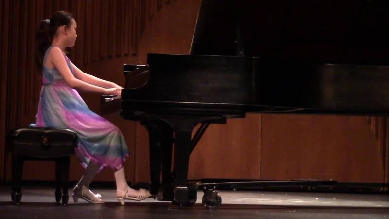 Hannah Zhang at the 31st International Young Artists Piano Competition