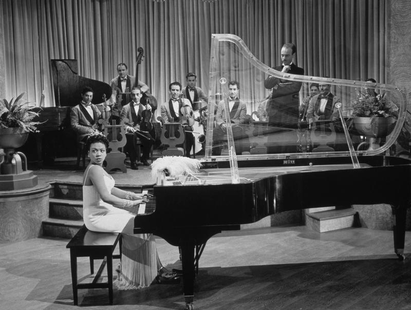 Jazz pianist Hazel Scott in a scene from director Irving Rapper's film 'Rhapsody In Blue.'