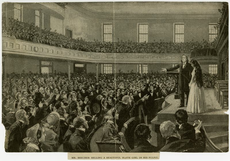 The abolitionist Henry Ward Beecher dominated city politics for almost half of the 19th century. He held fundraisers to emancipate enslaved girls and young women.