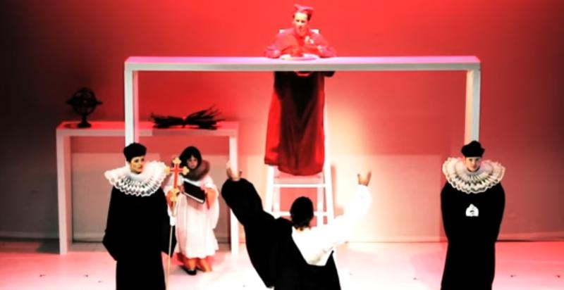"The Trial scene from Roger Doyle's opera, ""Heresy"""