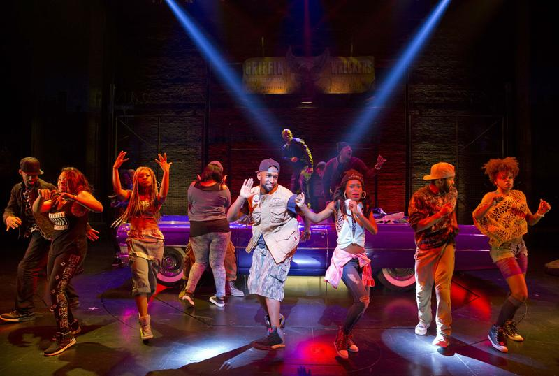 Cast of Holler if Ya Hear Me, a new musical inspired by Tupac Shakur's songs