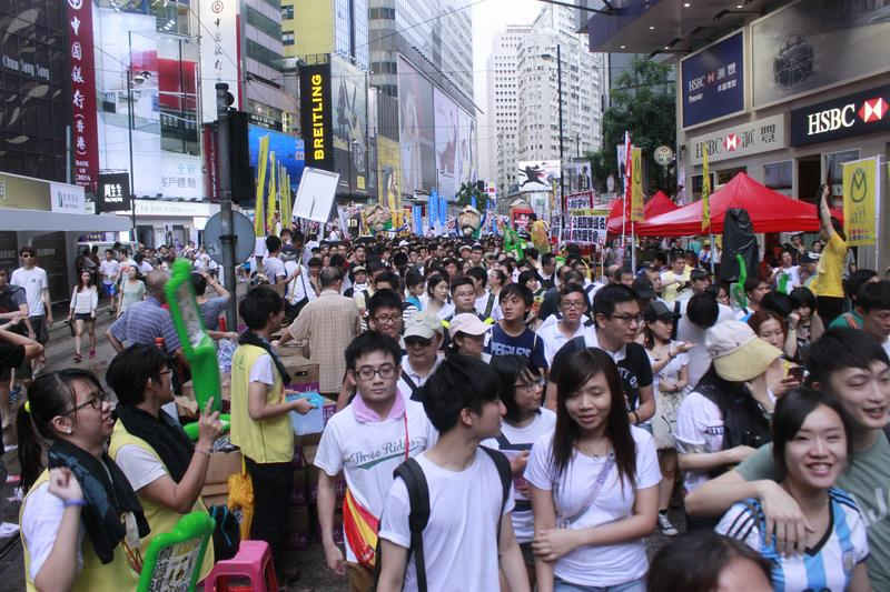 March in Hong Kong on July 1, 2014