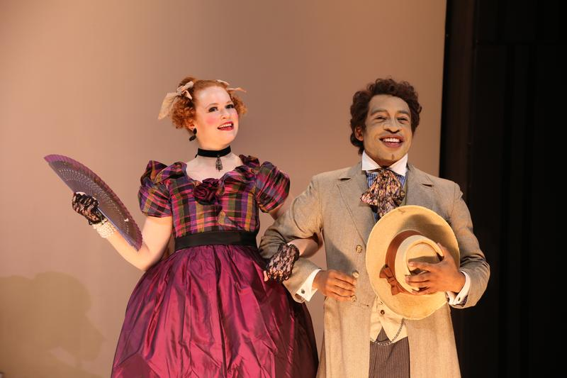 "Mary Wiseman and Austin Smith in ""An Octoroon"""