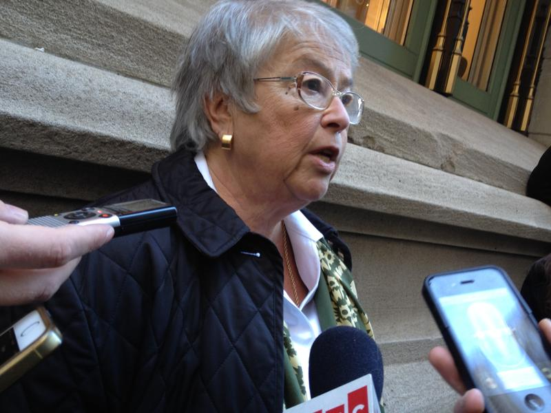 Chancellor Carmen Farina after meeting with charter school leaders