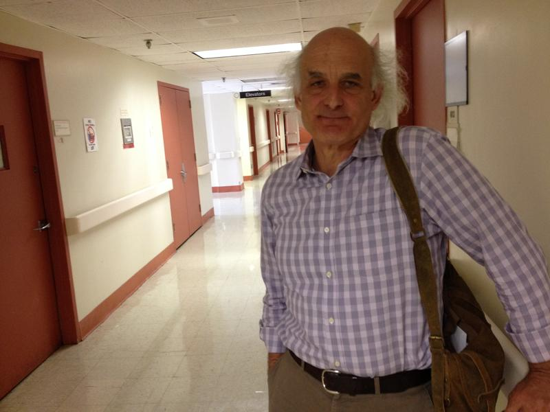Dr. Douglas Sepkowitz, one of LICH's last physicians, in an empty hallway.