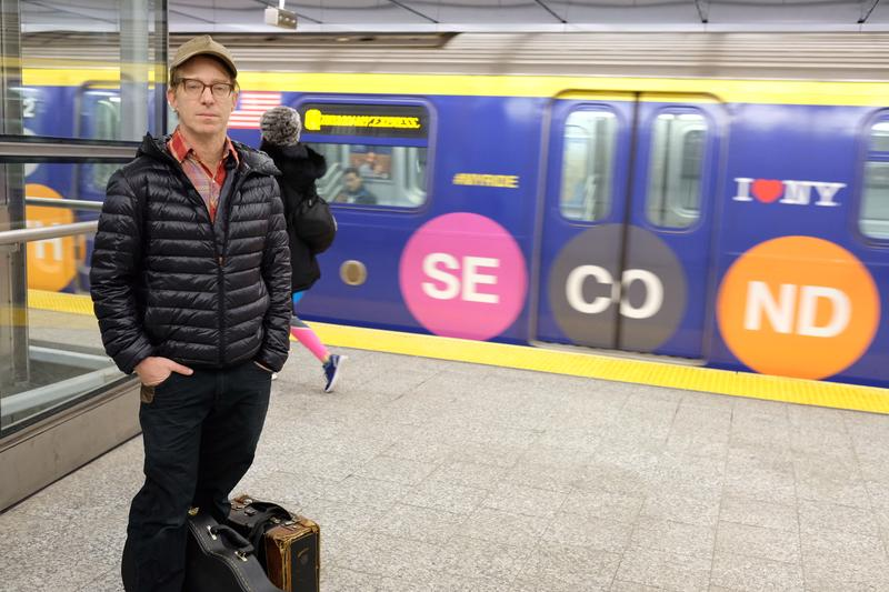 Marc Orleans plays bluegrass on his mandolin and has been busking at subway stations for nearly a decade. He was told he couldn't play at the new Second Ave. stations.