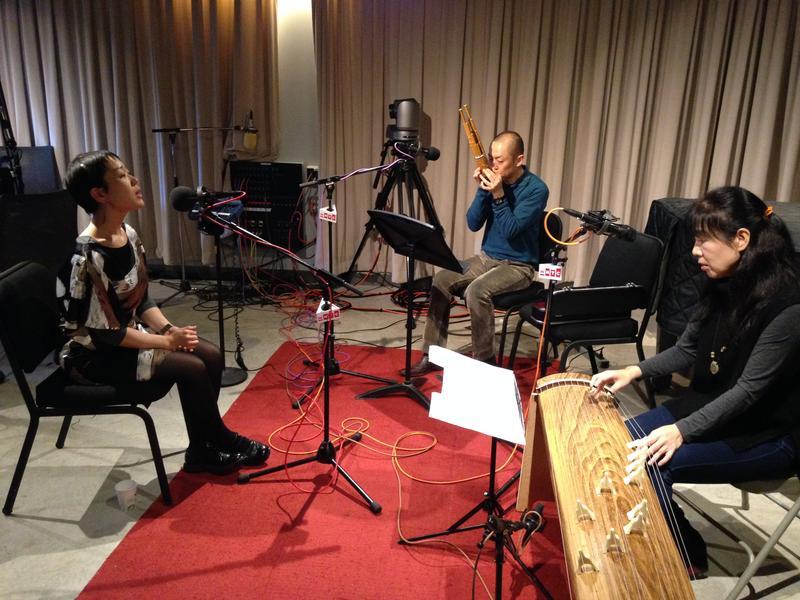 (L to R) Vocalist Ami Yamasaki, Ko Ishikawa, sho (ancient Japanese mouth organ), Kayoko Nakagawa on koto
