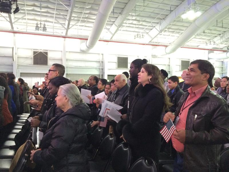 100 immigrants from 35 countries became citizens on Sunday